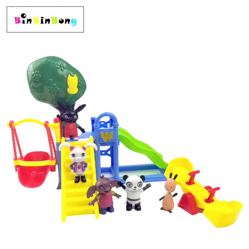 Bing Bunny Figure Pando Coco Flop Sula Playground Slide Seesaw Action Figure Play House ToyBing Bunny Figure Pando Coco Flop Sula Playground Slide Seesaw Action Figure Play House Toy