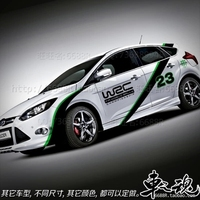 Car Styling Whole body 2 Pcs BK Material Auto Car Body Styling Vinyl Decal Graphics Sticker Fit for Ford Focus