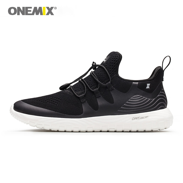 ONEMIX Men Walking Shoes For Women Summer Mesh Breathable Soft Black Tennis Sports Boots Trainers Outdoor Trail Running Sneakers
