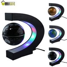 Fashion font b Home b font Decoration LED Floating Tellurion C Shape Magnetic Levitation Floating Globe
