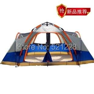 Entièrement automatique 4 saisons double couche famille 6-8 personnes pêche plage camping extérieur tente automatique, tente 6 personnes 2 chambres