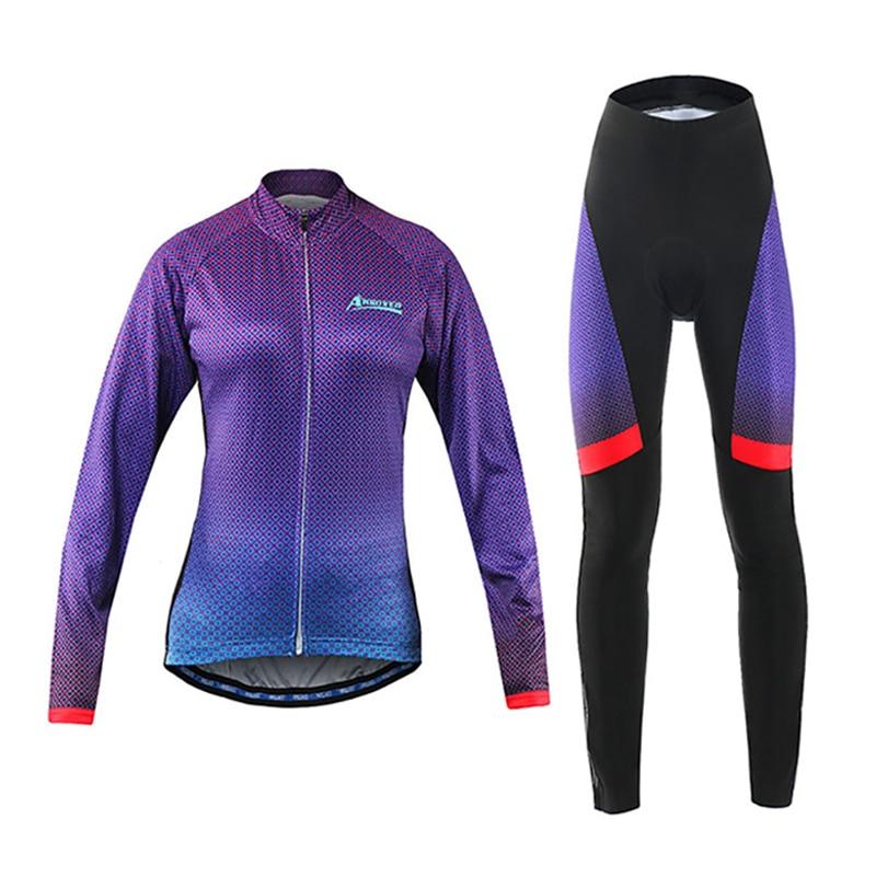 font b Cycling b font font b Jersey b font Set Women Long Sleeve Breathable