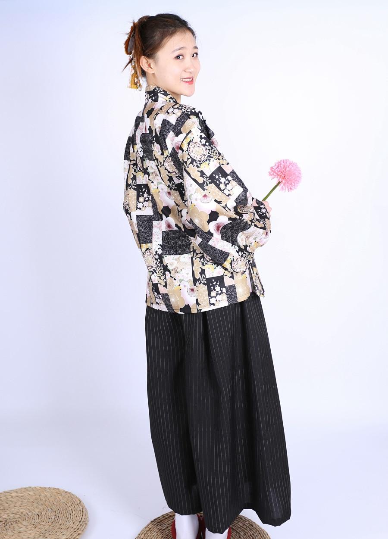 Japanese Style Clothing Overalls, Sushi Shop Waiter Welcome Restaurant Kimono Set