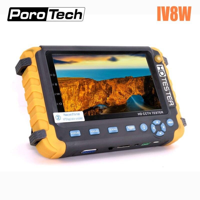 2018 Atualizado IV8S IV8W 5 polegada CCTV Monitor Tester 5MP CVI TVI AHD Câmera de Segurança tester suporte CVBS Áudio PTZ entrada VGA HDMI