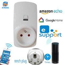 все цены на FR Smart Socket Wifi Plug Adapter App Wireless Control Smart Home House Electric Power Outlet Switch Alexa eWelink IFTTT онлайн