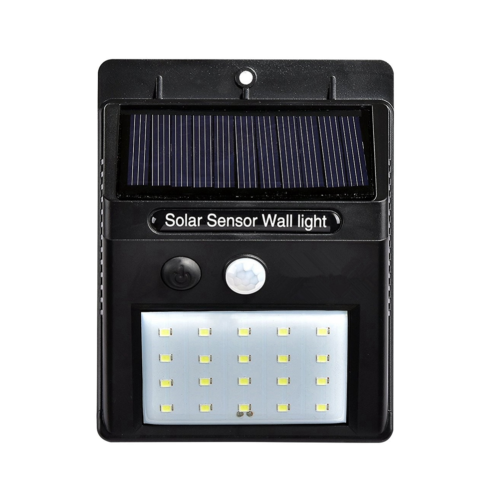 3528 20 LED Solar Power PIR Motion Sensor Wall Light Outdoor Waterproof Energy Saving Street Yard Path Home Garden Security Lamp