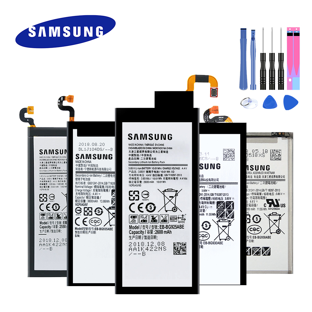 2019 New Original Battery For Samsung Galaxy S6/ S6 Edge/ S7/ S7 Edge/ S8 G920 G920F G925 G930 G935 G950 EB-BG920ABE With Tools