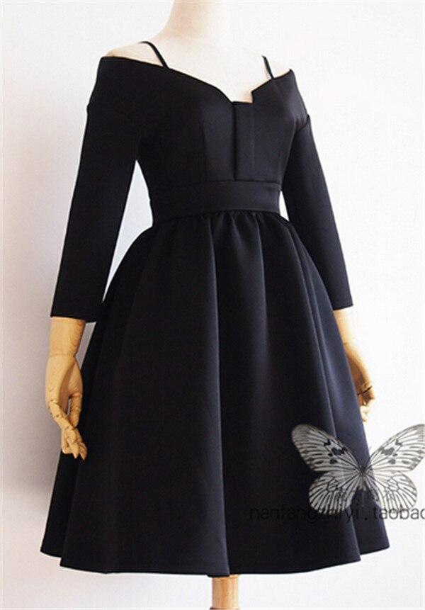 Aliexpress.com : Buy Sexy Off the Shoulder Retro Black Dress ...