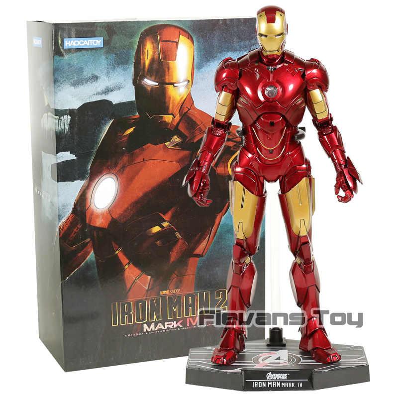 Avengers Iron Man MK 4 Mark IV Tony Stark PVC Action Figure Model with LED  Light Collection Figurine Toy