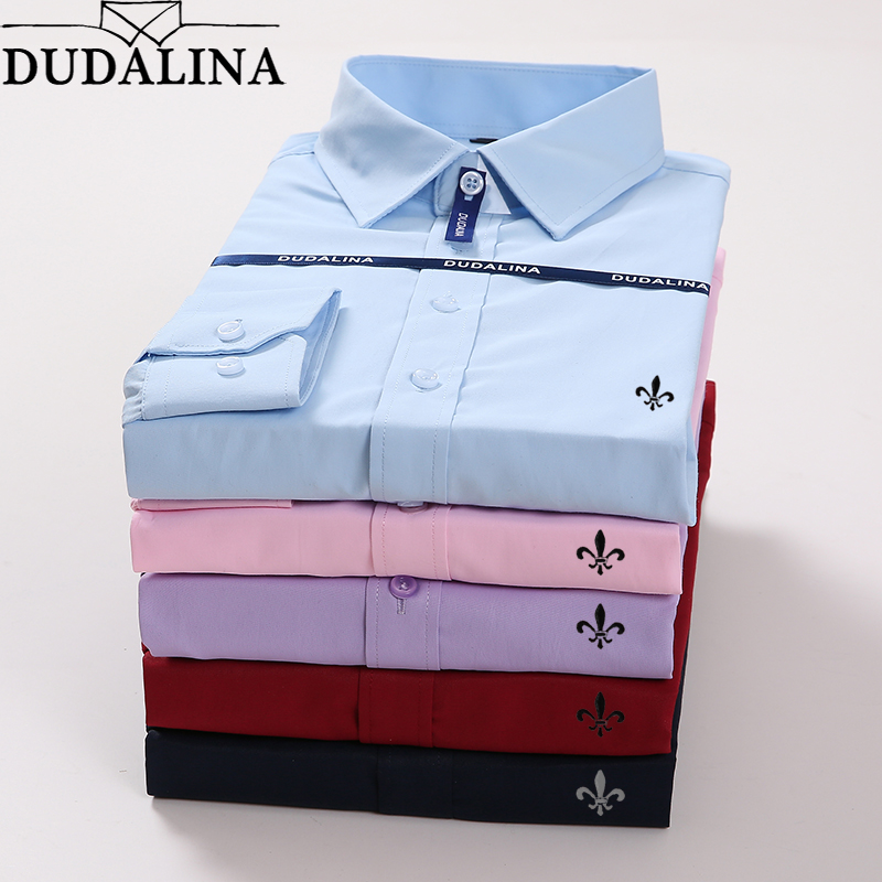 Homens Camisa Masculina Dudalina Plus Size Masculino de Manga Comprida Blusa De Frio do Sexo Masculino Masculina Sociais Slim Fit Reserva