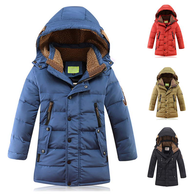 2017 Russia Winter Boys Down Jacket Boy Warm Thick Duck Down & Parkas Children Casual Fur Hooded Jackets / Coats -35 Degrees fashion 2017 girl s down jackets winter russia baby coats thick duck warm jacket for girls boys children outerwears 30 degree