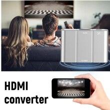Алюминиевый сплав Micro USB 3,0 к HDMI 1080 P видеокабель HD HDMI конвертер адаптер для Android IPhone для HD tv Plug Play