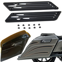 Motorcycle Saddlebag Latch Side Cover for Harley Touring Street Electra Glide FLHX Road King FLHR FLHT FLTR FLTC 1993-2013 black aluminum motorcycle fuel tank cover console door cover fuel cap deep cut for harley touring flhx fltr flht 2008 2016