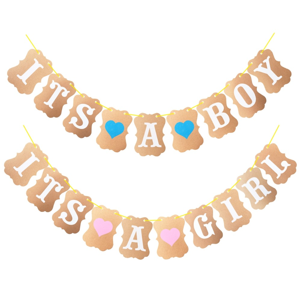 1st Birthday Party Banner Its A Boy Girl Banner First Birthday Party Garland Bunting Supplies Baby Shower I 39 m One Year Banner in Banners Streamers amp Confetti from Home amp Garden