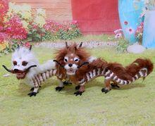 chinese dragon 32x18cm hard model polyethylene furs handicraft Figurines Miniatures home decoration toy gift a2887