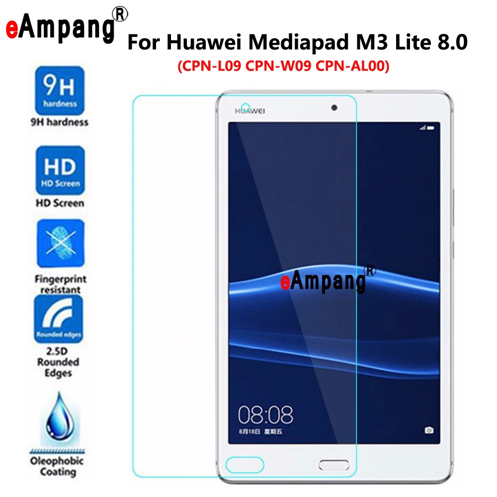 Tempered Glass For Huawei Mediapad M3 Lite 8 8.0 CPN-L09/W09 CPN-AL00 Transparent Screen Protective Film Tablet Screen Protector tempered glass original for alldocube m5 glass screen protector film slim transparent