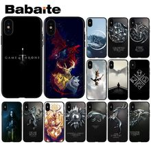 Babaite Game Of Thrones House Targaryen Soft Silicone TPU Phone Cover for Apple iPhone 8 7 6 6S Plus X XS MAX 5 5S SE XR