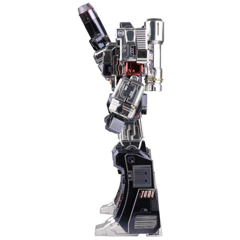 2018 MU 3D Métal Puzzle Optimus Prime G1 Megatron Modèle BRICOLAGE 3D Découpé Au Laser Assembler Puzzle Jouets CADEAU De décoration de Bureau pour Vérification - 4