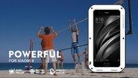 Original Love Mei Powerful Case For xiaomi 6 mi6 Waterproof Shockproof Aluminum Case Cover For xiaomi mi 6 free Tempered Glass