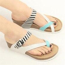 WADNASO Fashion Women Sandals Wedges Cork High Heels Shoes Gladiator Beach Summer Slippers Zapatos Mujer Sandalias 35-40