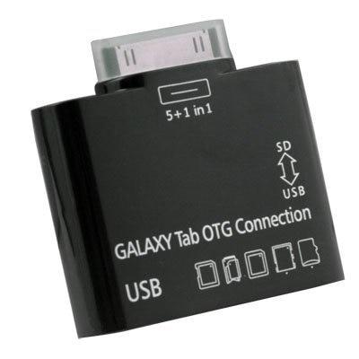 OEM USB OTG Connection Kit  Card Reader for SAMSUNG GALAXY TAB 10.1 P7500 P7510 BLACK
