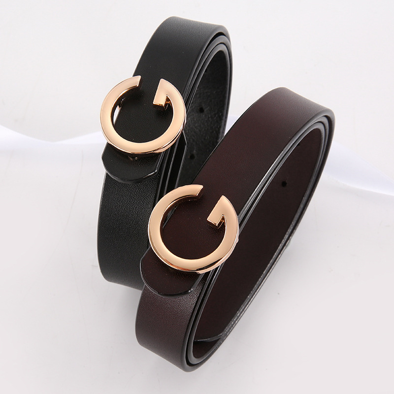 Women Pants Dress Strap Ladies Genuine Leather Belts With Alloy Retro Buckle Female Cowskin Belt Designer Women's Jeans Belt