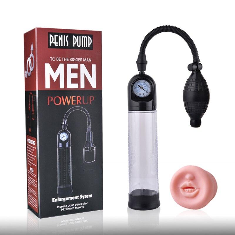 Male Penis Enlargement Vacuum Pump Penis Extender Sex Toys For Man Penis Enlarger Trainer Delayed Ejaculation Adult Sex Product