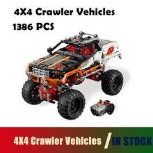 Совместимость с строительными блоками Lego Technic 9398 модель 20014 1386pcs 4X4 Гусеничные транспортные средства Фигурные кирпичные игрушки для детей