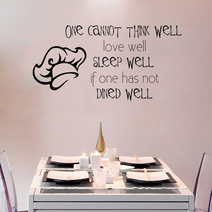 Kitchen Plane Wall Decal Quote Chef Vinyl Mural Cook Sticker Dining