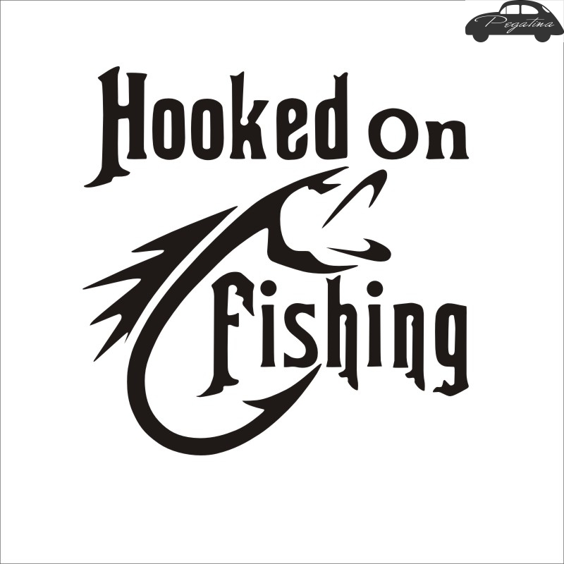 Fishing Sticker Name Catfish Fish Decal Angling Hooks Tackle Shop Posters Vinyl Wall Decals Hunter Decor Mural Sticker