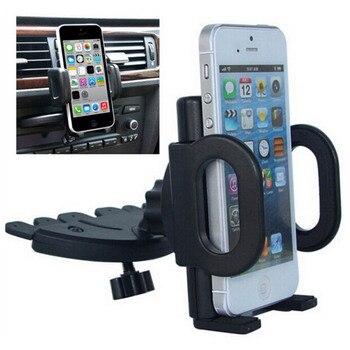 Универсальный вращающийся на 360 градусов смарт-телефон Регулируемый Черный CD слот крепление подставка автомобильный держатель телефона дл...