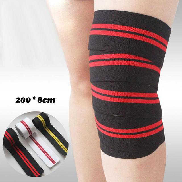 Contrast Stripes Elastic Knee Strap