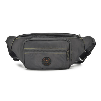 Fashion Men Solid Shopping Waist Packs!All-match Casual Male riding chest pockets Versatile Casual Oxford mobile&change Carrier image