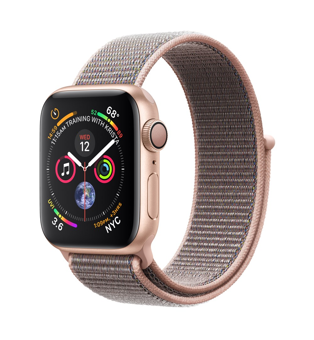 Apple Watch Watch Series 4, OLED, Touchscreen, GPS (satellite), 18 h, 30.1 g, Gold