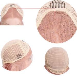 Image 5 - AISI יופי 28 ארוך גלי תחרה מול סינטטי פאות יד קשור אור בלונדיני טבעי Glueless שחור אדום חום עמיד שיער נשים
