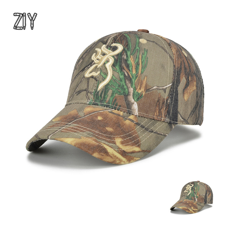 camouflage   baseball     cap   men Browning tactical camo army outdoor sports casual   cap   bone Jungle Hat Airsoft fishing Hunting   Caps