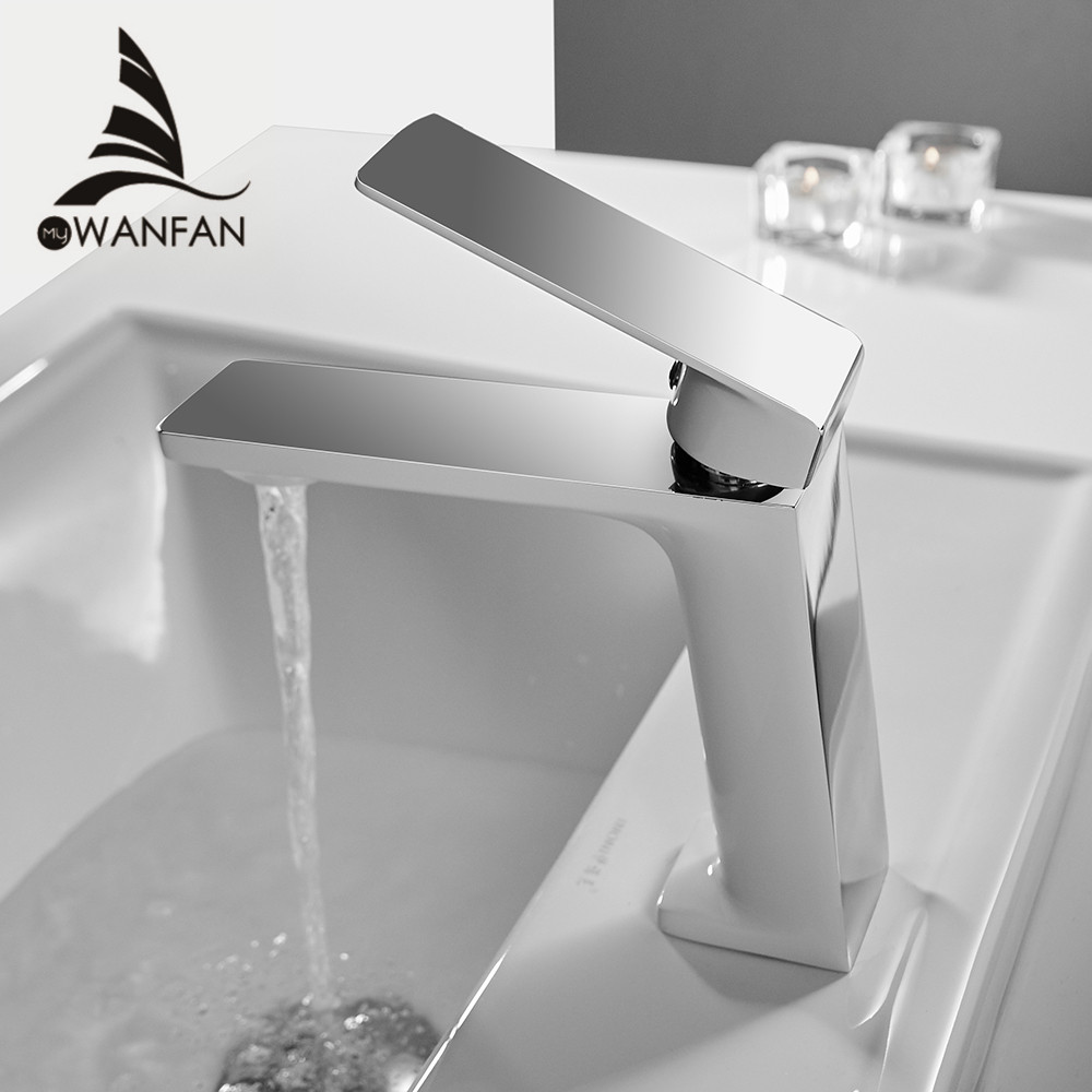 Black/ Chrome - 6.10 inch Bathroom Sink Faucet