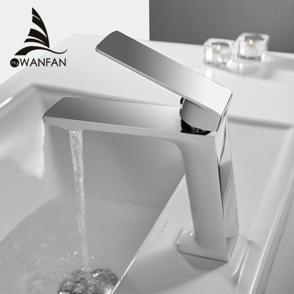 Robinet de lavabo salle de bains évier robinet unique poignée trou Chrome robinet bassin robinets pont Vintage lavage chaud froid mélangeur robinet grue 9922