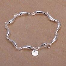 2016 Hot Silver Color Jewelry bracelet, silver plated wristlet vintage-accessories Water Drop Bracelet /FGCVLCEJ APVUHUHCI