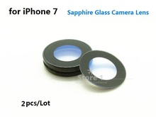 2pcs/Lot Original for Apple iPhone 7 Camera Lens; Sapphire Crystal Single Glass With/ Without Frame for iPhone 7 4.7