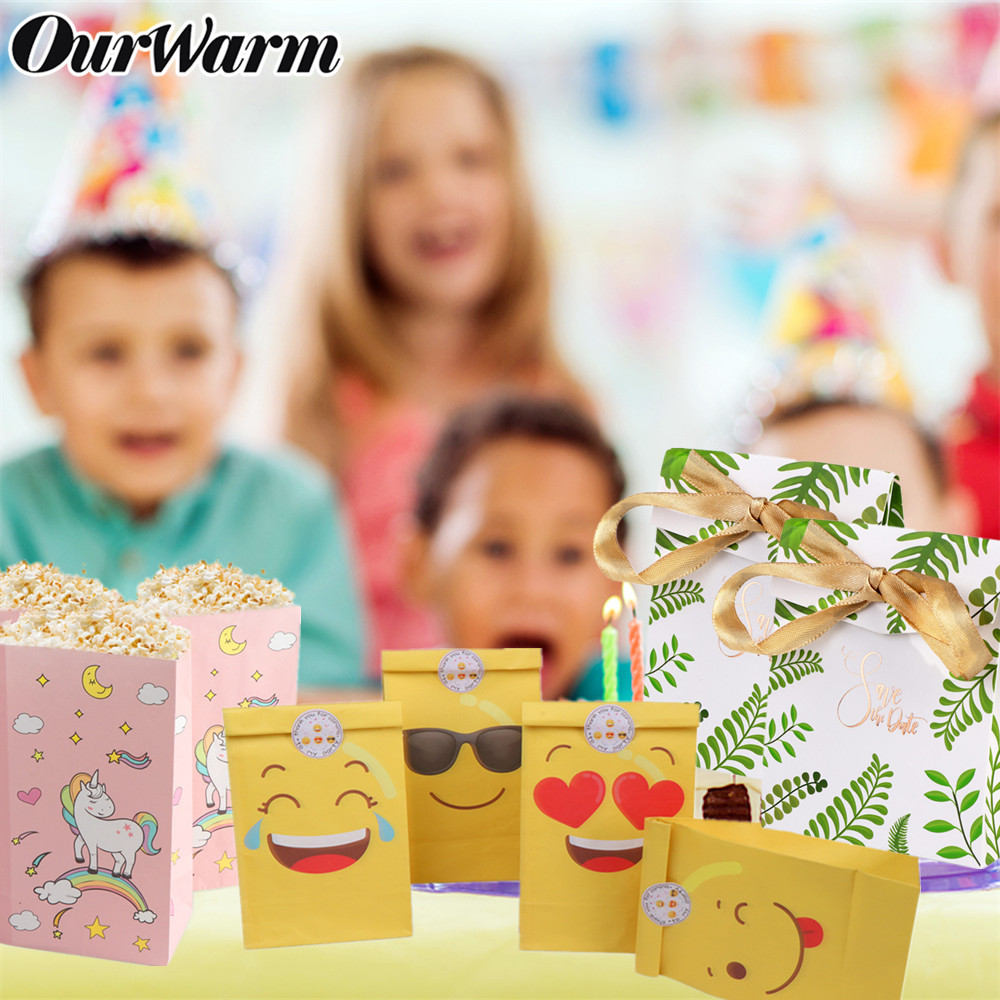Wedding Gift Ideas For Kids: OurWarm Greenery Unicorn DIY Paper Candy Bags Box Gifts