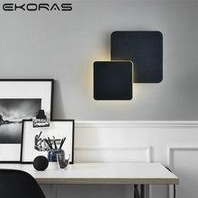 Настенная квадратная светодиодная лампа вращающийся на 360 градусов