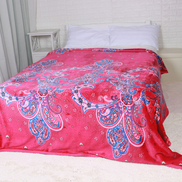 Traditional Chinese Style Red Flannel Fleece Throw Blanket Wedding