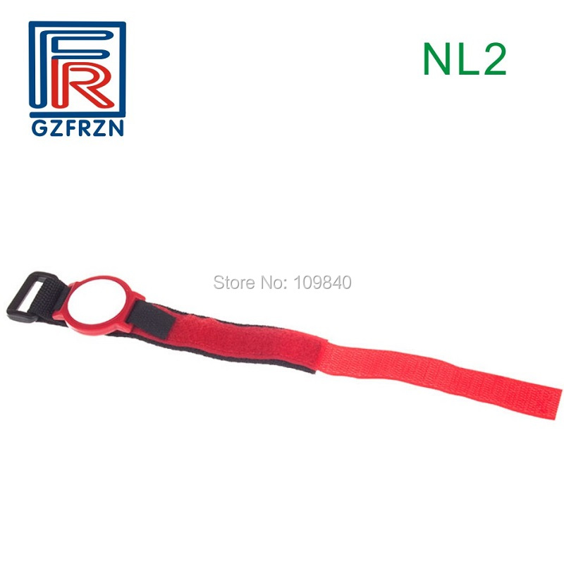 10pcs NL2 style I CODE SLIX 13.56Mhz Nylon Passive RFID Wristband ISO 15693/18000-3 bracelet tag survival nylon bracelet brown