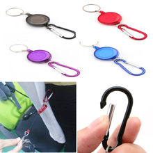 Badge Spreader Carabiner Recoil Retractable Reel Strap Belt Chain Ring Clip Key(China)