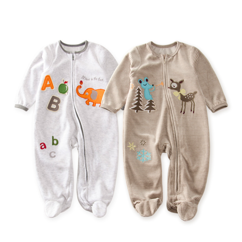 Newborn boy rompers Coral Fleece Winter baby Clothing cartoon Infant Clothes Age 3-18M kid clothes Plush winter romper kung fu panda baby clothes one pieces newborn cartoon animal jumpsuit winter boy rompers cartoon infant clothes baby romper yl29