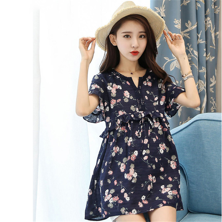fashionable summer casual crew neck swallow tailed loose tee