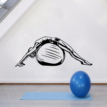 Removable Wall Sticker Health Life Ball Vinyl Decal Design Pattern Fitness Poster Yoga Style Mural AY1403