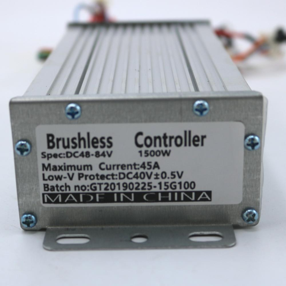 Greentime High Quality 48V 1000W 45Amax BLDC Motor Speed Controller Sensor/Sensorless Electric Bike Scooter Controller