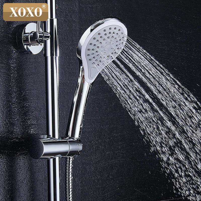 XOXO free shipping new bathroom shower faucet copper bath tub shower faucet shower faucet waterfall shower head wall mixer 80010